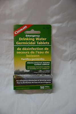 Coghlan's Emergency drinking water germicidal tablets # 7620 ( #bte2 )