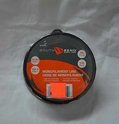 South bend monofilament line 50 lbs (110 yards ) # m1450  (store#bte15+16)