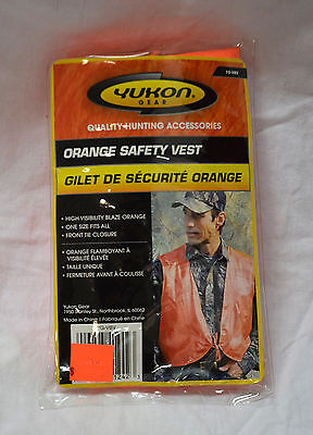 Yukon gear orange safety vest #yg-vbv one size fits all ( #bte11 )