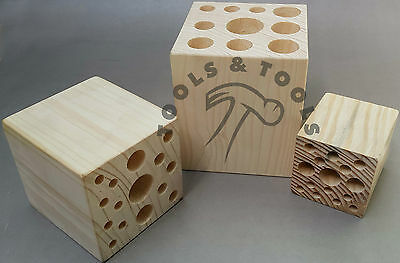 Wood Tool Stand/ Block Jewellery Small Parts Saw Blades Organiser Holder 3 Sizes