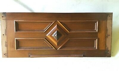 Antique Architectural Header Pediment Walnut
