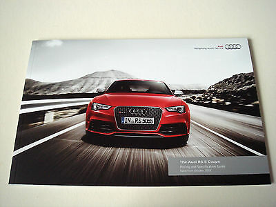 Audi . RS 5 . The Audi RS 5 Coupe . October 2012 . Sales Brochure