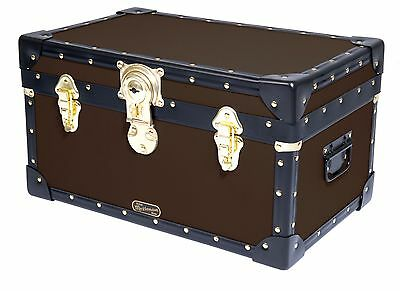 BROWN Traditional British Mossman Made Boarding School Tuck Box Storage Trunk