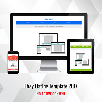 Listing Template 2017 Ebay Responsive Auction Design for Sellers | 9 Colors