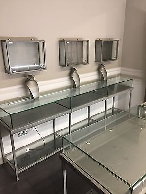 Shop glass display cabinets, Mirrors, Counter For  Jewellery, Phones Etc.