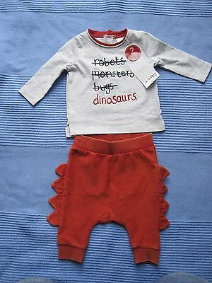 """Next Baby Boys Outfit / Set """"Dinosaurs"""" up to 1 month BNWT"""