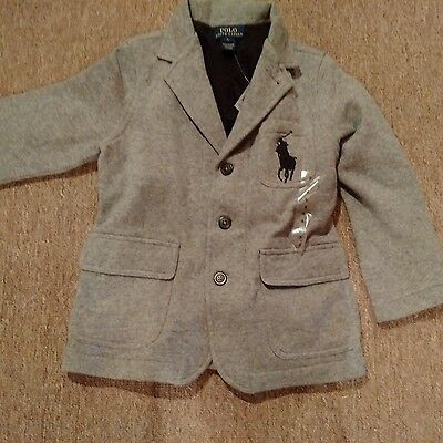 Ralph Lauren Polo Blazer for a little guy New with tags size 5 Gray