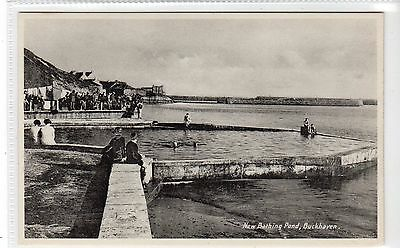 NEW BATHING POND, BUCKHAVEN: Fife postcard (C10465)