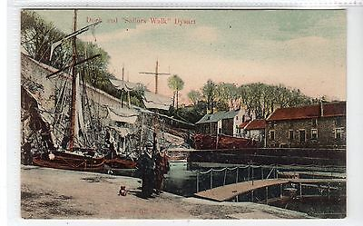 "DOCK AND ""SAILORS WALK"" DYSART near KIRKCALDY: Fife postcard (C10350)"