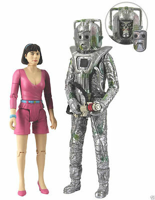 Doctor Who Exclusive Collectors Figure Set Peri and Rogue Cyberman NEW