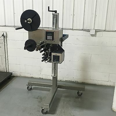 Used Label Aire Labeljet 230-S Labeler Adjustable Stand Label-Aire Applicator