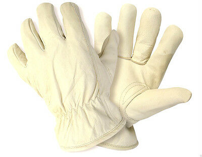 NEW BRIERS LINED HIDE Leather Garden Work Gloves B0021 Medium  Size 8