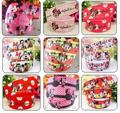 2M MINNIE MOUSE GROSGRAIN RIBBON 22mm/25mm