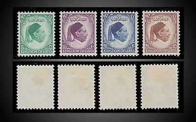 1952 Libya Incomplete ,king Idris Mint Hinged Sct. 137 139 141 142