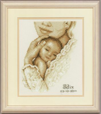 Vervaco - Counted Cross Stitch Kit - Birth Record - Tender Moment - 200275.337