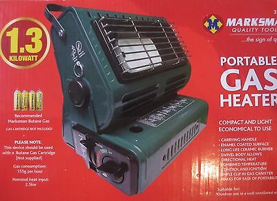 New Portable Gas Heater Camping Shed Tent Outdoor Bbq 1.3Kw + 2 Butane Gas