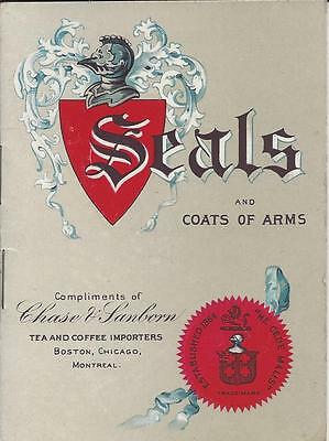 Seals And Coats Of Arms,compliments Of Chase & Sanborn, Copyright 1902