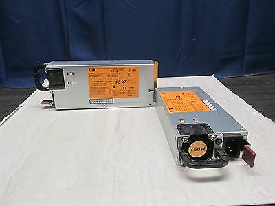 Lot of 2 HP HSTNS-PL18 750W Server Power Supply P/N 506822-101