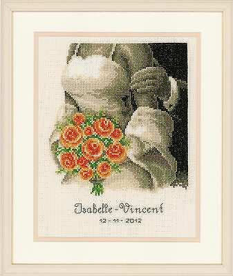 Vervaco - Counted Cross Stitch Kit - Wedding - The Bouquet - 200275.355