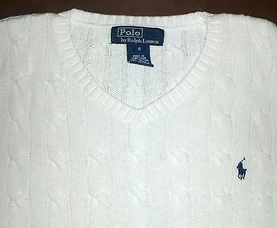 boy 6 years POLO by RALPH LAUREN white EASTER sweater vest PONY!