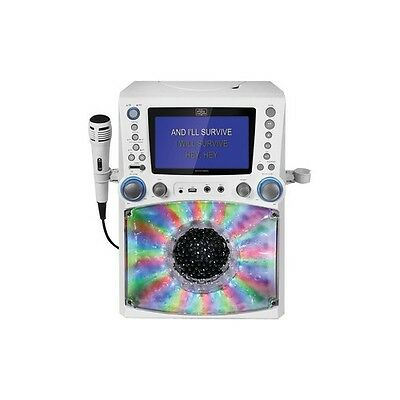 THE SINGING MACHINE STVG785W Classic Series CD/CD+G/MP3+G Karaoke Player with...