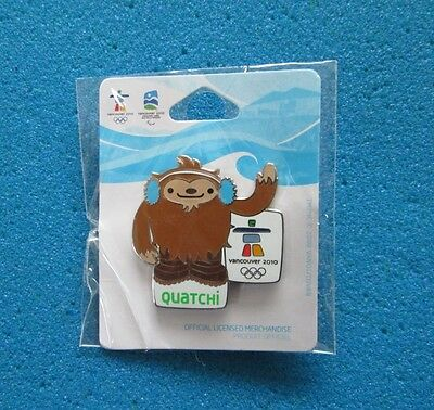 MASCOT QUATCHI VANCOUVER 2010 OLYMPIC PARALYMPIC WINTER GAMES  PIN # s-p-15