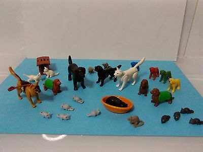 PLAYMOBIL PERROS GATOS RATONES topi chats cats mice gatti chiens dogs cani dog