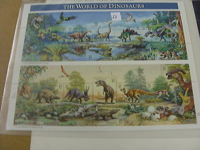 Usa Mint Stamp Sheets The World Of Dinoseurs 1996 Very Nice