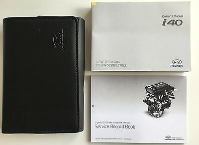 HYUNDAI i40 OWNERS MANUAL HANDBOOK PACK WITH WALLET + SERVICE 2015-2016 REF4104