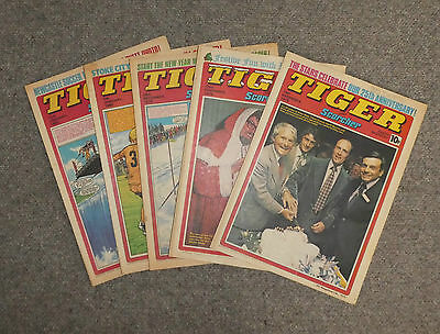 TIGER & SCORCHER COMICS x 5  -1979/80  - (G3642T)