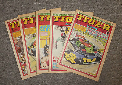 TIGER & SCORCHER COMICS x 5  -1980  - (G3642W)