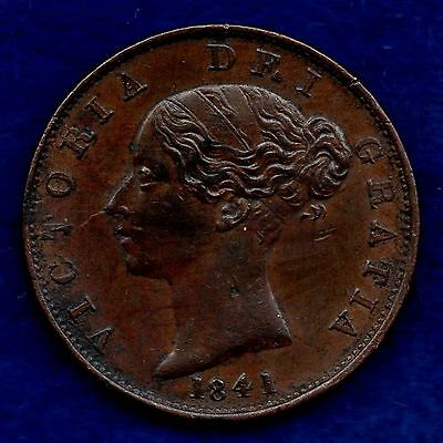 Great Britain, Victoria, 1841 Halfpenny (Ref. c5372)
