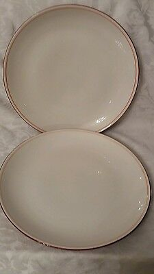 Denby Bistro red dinner plates 10.75 inches x 2 in excellent used condition