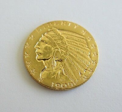 1909-D $5 Indian Head Gold Half Eagle In Great Condition Five Dollar Gold Piece