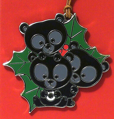 BEAR CUBS WOODLAND WINTER PIN disney park NEW limited ornament BRAVE BROTHERS