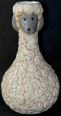 "Sheep Lamb Vase Adorable Designer Statement Piece Whimsy Large 13+"" Easter CUTE"