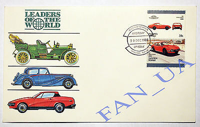 1986 Stamp Car TOYOTA 2000 GT First Day cover (Leaders of the World / Auto 100)