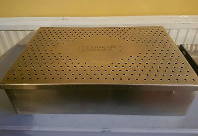 Integra Omni-Tract 3424 Surgical Sterilization Pan & Cover-Surgical Equipment