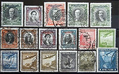 Chile ex. Kat. 163-208 used Air Mail 1928/52