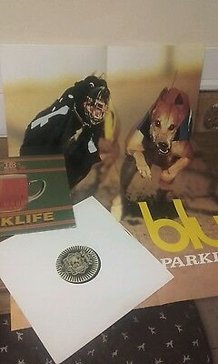 """Blur parklife 12"""" single hyper rare with  unused poster 24 inch x 36 inch.. vgc"""