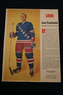 Lot of 11 Weekend Magazine Player Profiles French  Diff Seasons - RARE  Beliveau