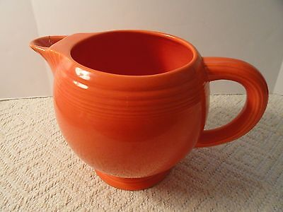 Very Rare Fiesta Ice Lip Pitcher--Original Color Red Glaze ~ c. 1937 - 1943