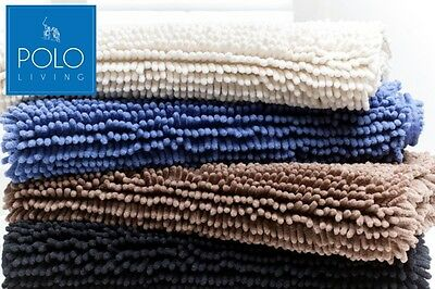 POLO Toggle Bath Mat - Latex backing, available in Blue, Cream, Mocha & Black