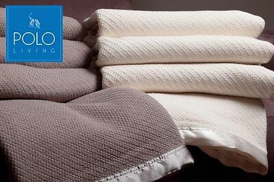 POLO Soft Cotton blanket - Single, Queen & King sizes available