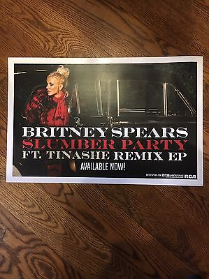Britney Spears Rare Official Slumber Party Us Promo Poster