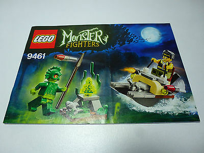 LEGO Monster Fighters INSTRUCTIONS ONLY from The Swamp Creature 9461