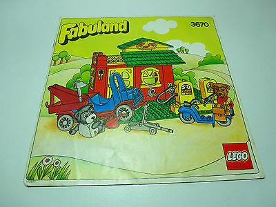 LEGO Fabuland INSTRUCTIONS ONLY from Service Station 3670