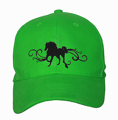 Horse Baseball Cap Hat Horse With Scrolls Brand New One Size Fits All 16 Colours