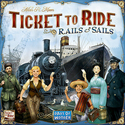 Ticket to Ride: Rails and Sails  - Days of Wonder - NEW SEALED - CANADIAN SELLER