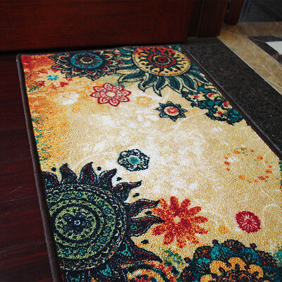 yazi Classic Rectangle Kitchen Door Mat Non Slip Rug Home Floor Carpet 50x80cm